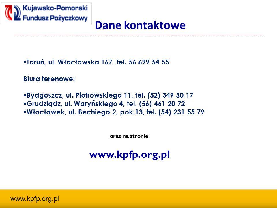 Dane kontaktowe  Toruń, ul. Włocławska 167, tel.
