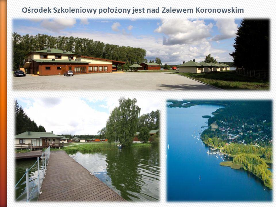 Ośrodek Szkoleniowy położony jest nad Zalewem Koronowskim