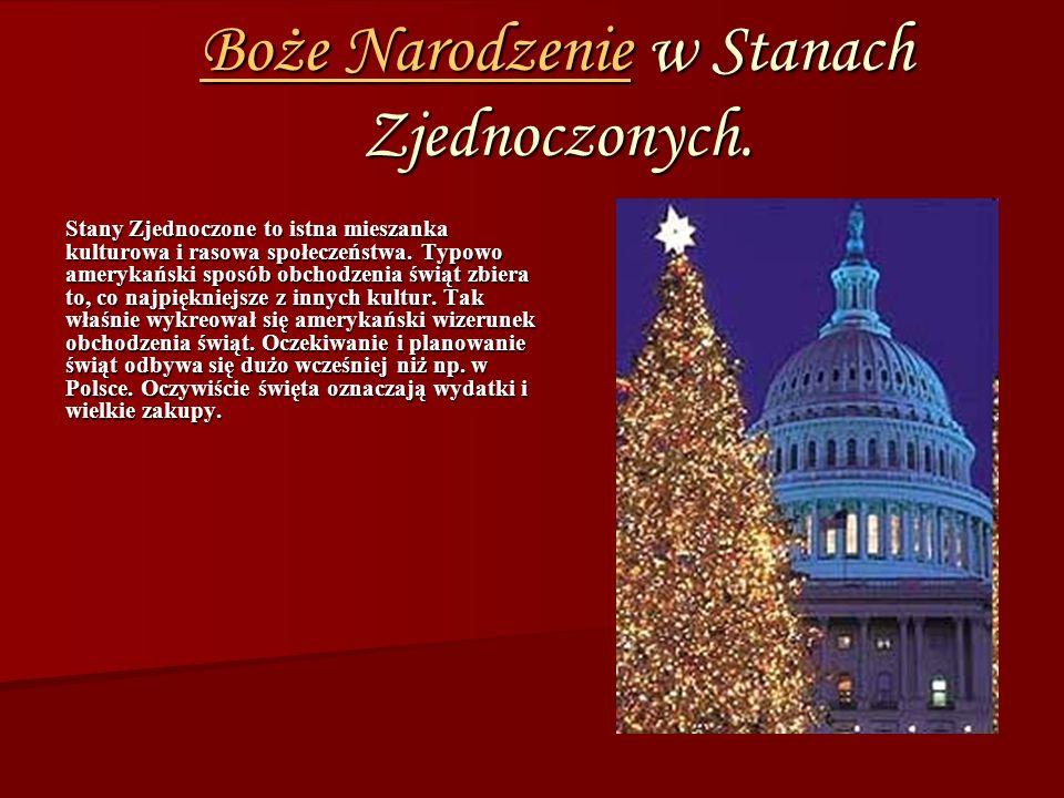 Boże NarodzenieBoże Narodzenie w Stanach Zjednoczonych.