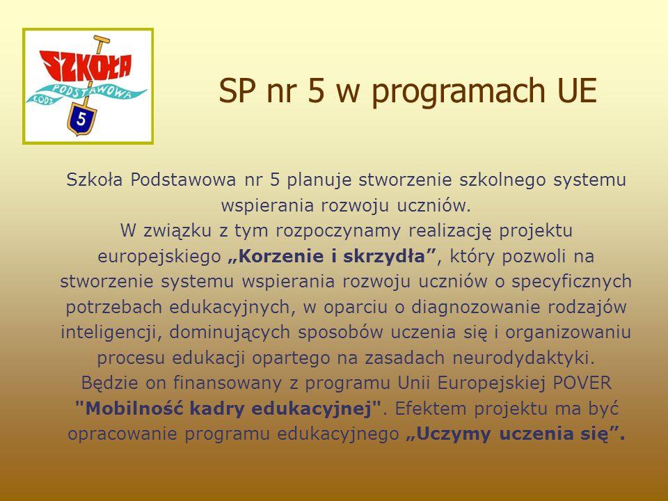 Szkoła Podstawowa nr 5 planuje stworzenie szkolnego systemu wspierania rozwoju uczniów.