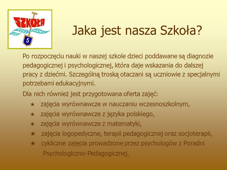 Po rozpoczęciu nauki w naszej szkole dzieci poddawane są diagnozie pedagogicznej i psychologicznej, która daje wskazania do dalszej pracy z dziećmi.