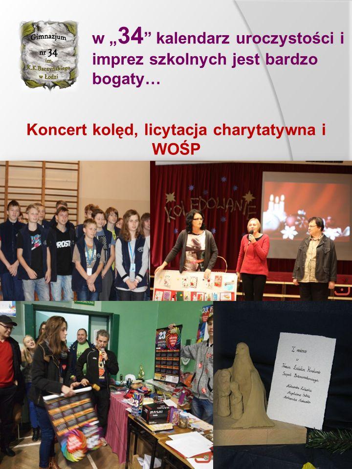 """w """" 34 """" kalendarz uroczystości i imprez szkolnych jest bardzo bogaty… Koncert kolęd, licytacja charytatywna i WOŚP"""
