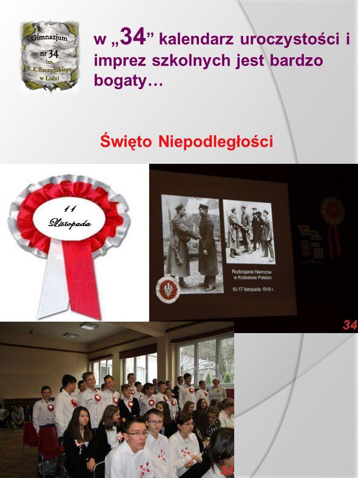 """w """" 34 kalendarz uroczystości i imprez szkolnych jest bardzo bogaty… Święto Patrona Krzysztofa Kamila Baczyńskiego"""