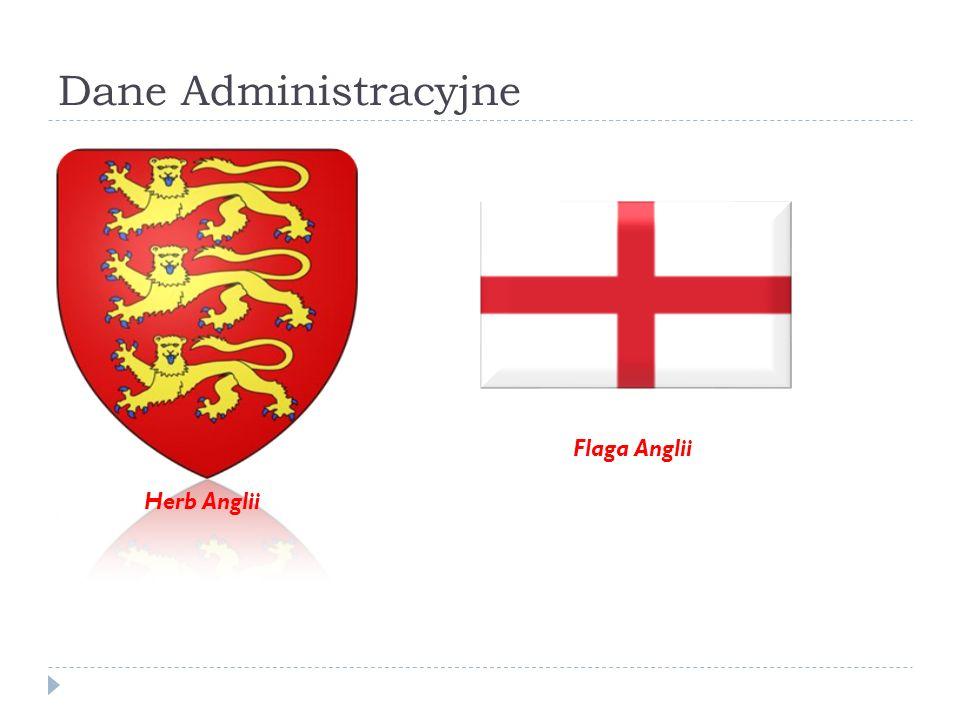 Dane Administracyjne Herb Anglii Flaga Anglii