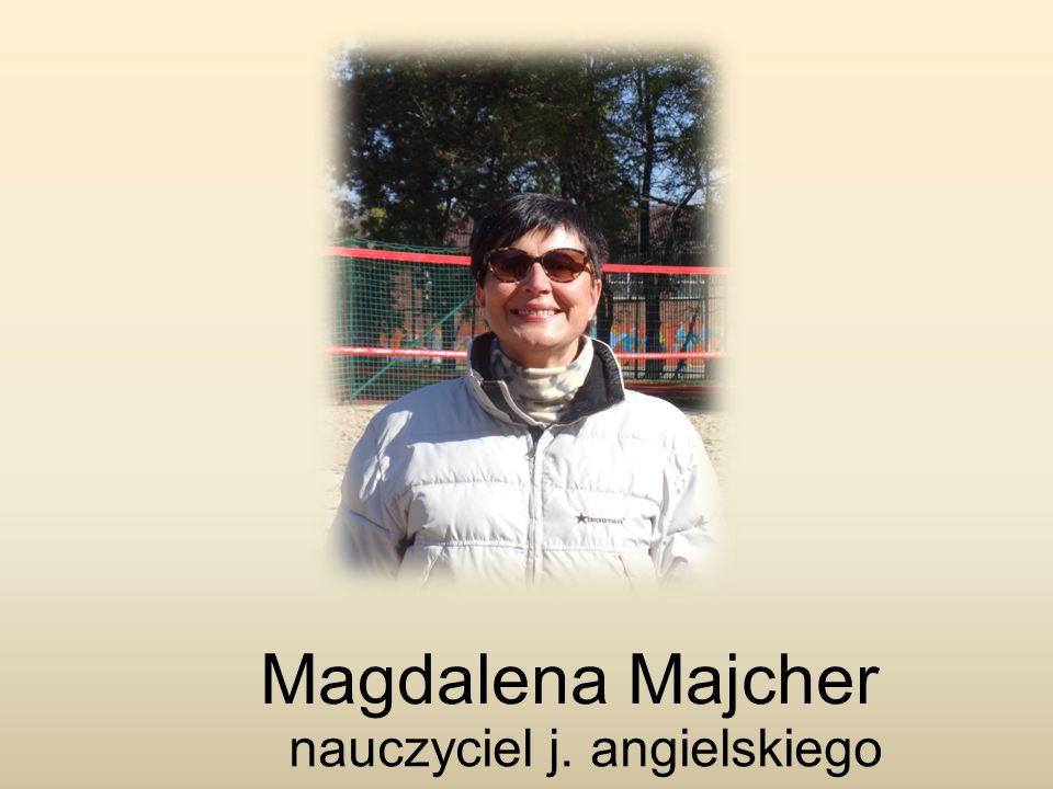 Magdalena Majcher nauczyciel j. angielskiego