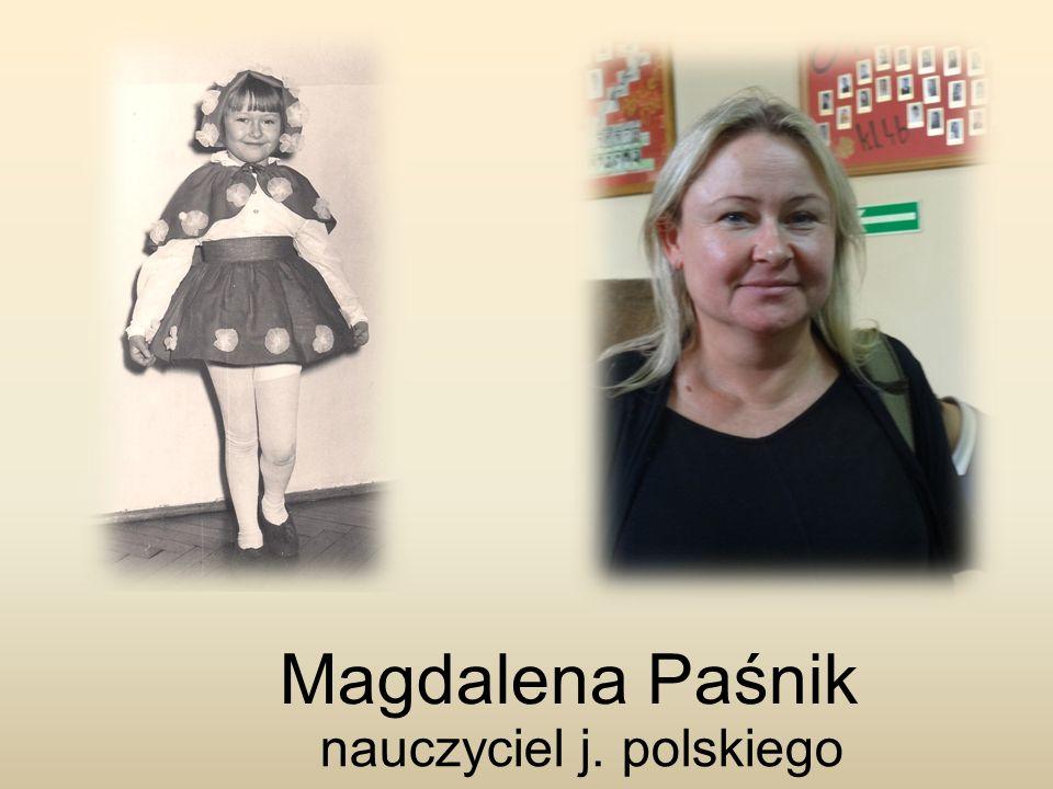 Magdalena Paśnik nauczyciel j. polskiego