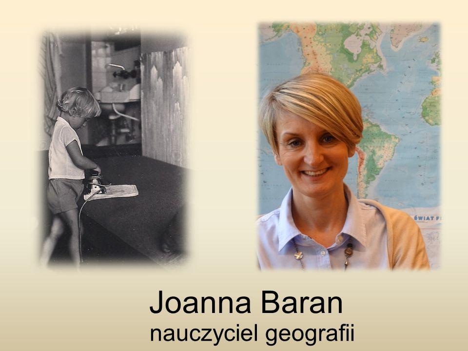 Joanna Baran nauczyciel geografii