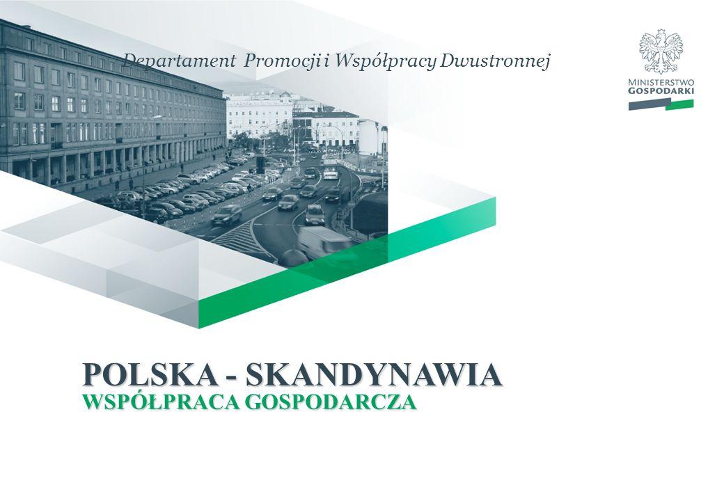 POLSKA - SKANDYNAWIA WSPÓŁPRACA GOSPODARCZA Departament Promocji i Współpracy Dwustronnej