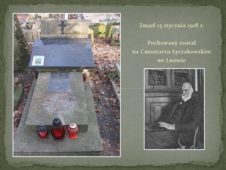 Zmarł 15 stycznia 1918 r. Pochowany został na Cmentarzu Łyczakowskim we Lwowie