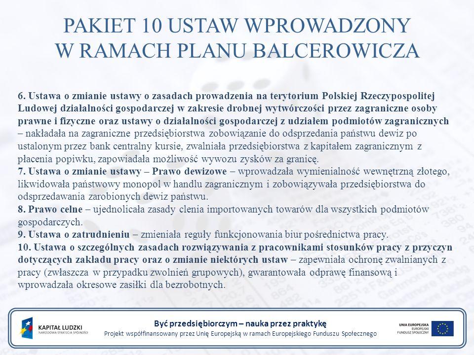 6. Ustawa o zmianie ustawy o zasadach prowadzenia na terytorium Polskiej Rzeczypospolitej Ludowej działalności gospodarczej w zakresie drobnej wytwórc