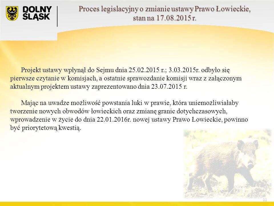 11 Projekt ustawy wpłynął do Sejmu dnia 25.02.2015 r.; 3.03.2015r.