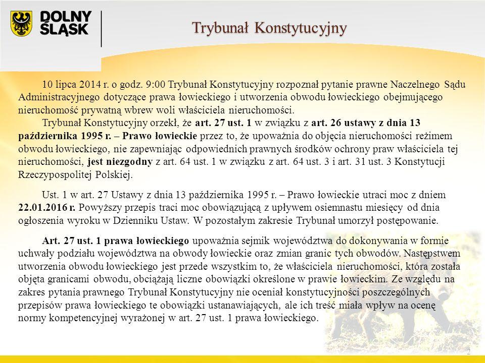Trybunał Konstytucyjny 2 10 lipca 2014 r. o godz.
