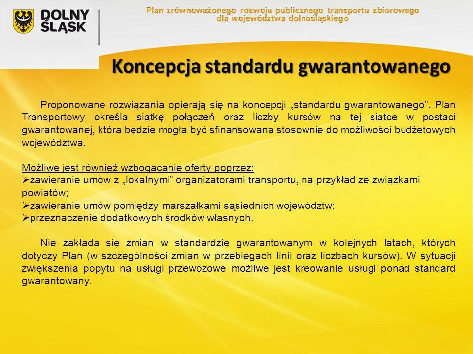 """Koncepcja standardu gwarantowanego Proponowane rozwiązania opierają się na koncepcji """"standardu gwarantowanego ."""