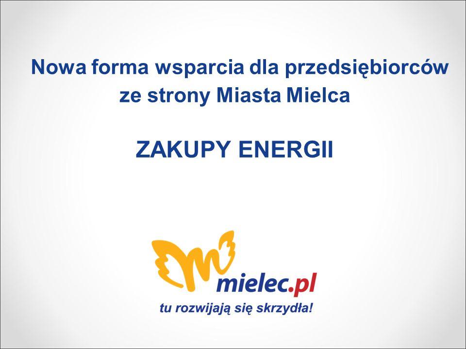 Nowa forma wsparcia dla przedsiębiorców ze strony Miasta Mielca ZAKUPY ENERGII