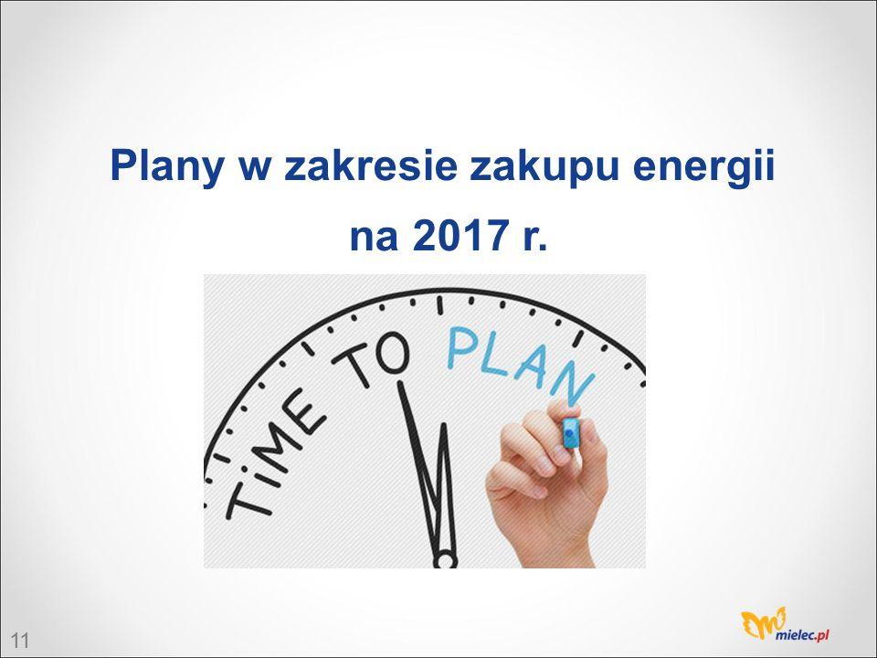 11 Plany w zakresie zakupu energii na 2017 r.
