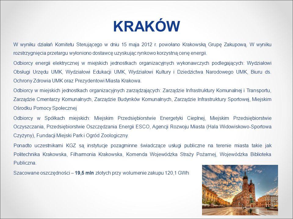 KRAKÓW W wyniku działań Komitetu Sterującego w dniu 15 maja 2012 r.