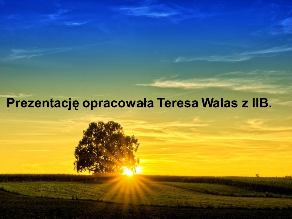 Prezentację opracowała Teresa Walas z IIB.