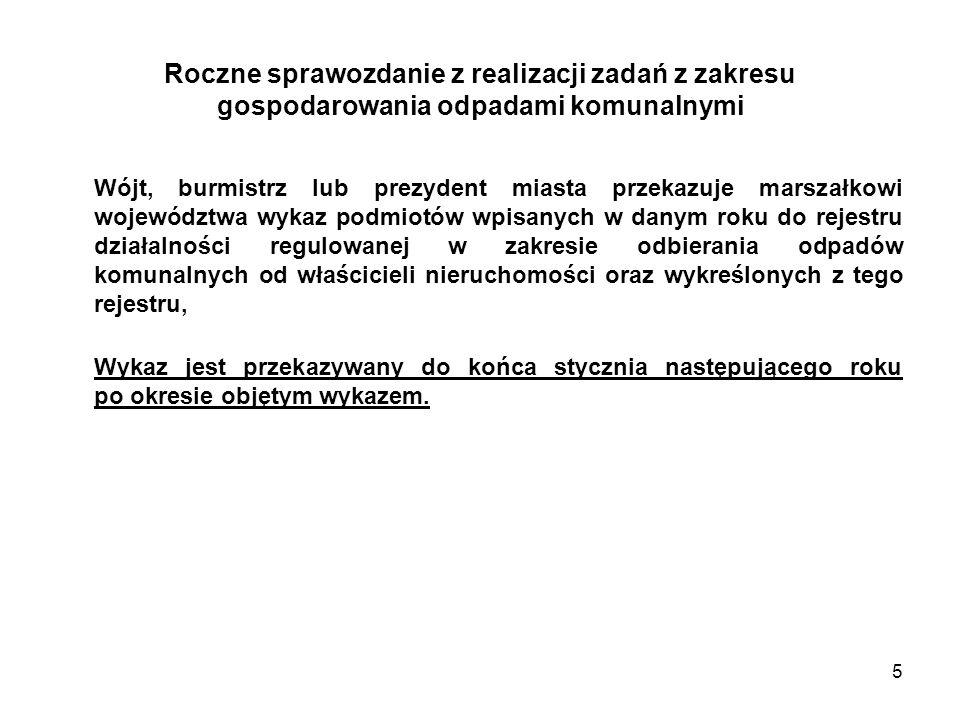 36 PRZYKŁAD: osiągnięty poziom ograniczenia masy odpadów komunalnych ulegających biodegradacji przeznaczonych do składowania M OUBR x 100 T R = ----------------------- [%] OUB 1995 DANE: M OUBR = 2236,37 Mg 2236,37 x 100 OUB 1995 = 4472,75 Mg T R = ----------------------- [%] 4472,7 T R = 50 %