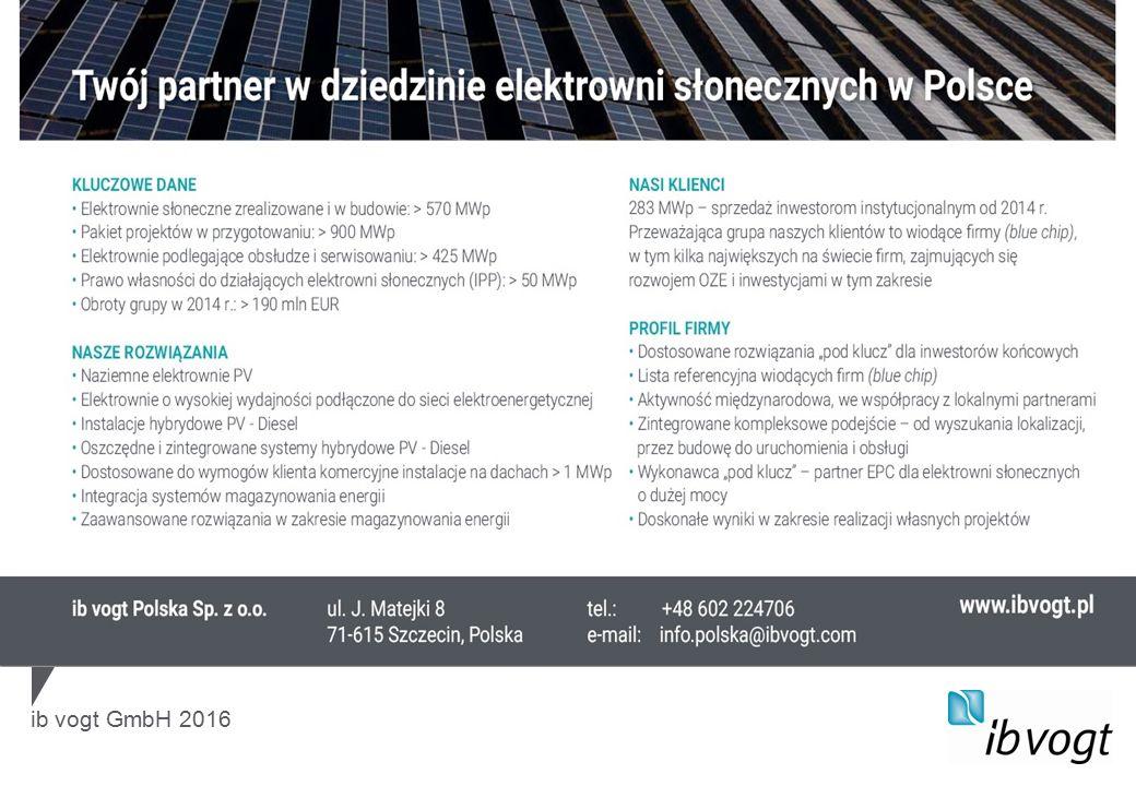 ib vogt GmbH 2016