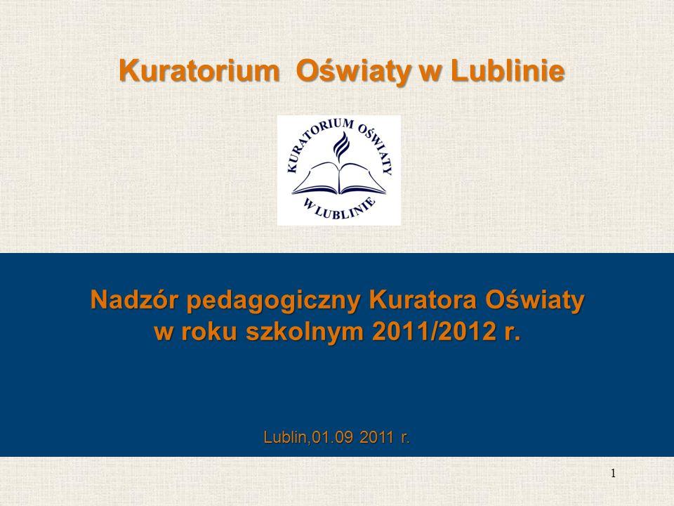 Wskaźnik szkół i placówek do przeprowadzenia zarówno ewaluacji jak i kontroli w roku szkolnym 2011/12 1.Liczba szkół / placówek, w których do 31 lipca 2011r.
