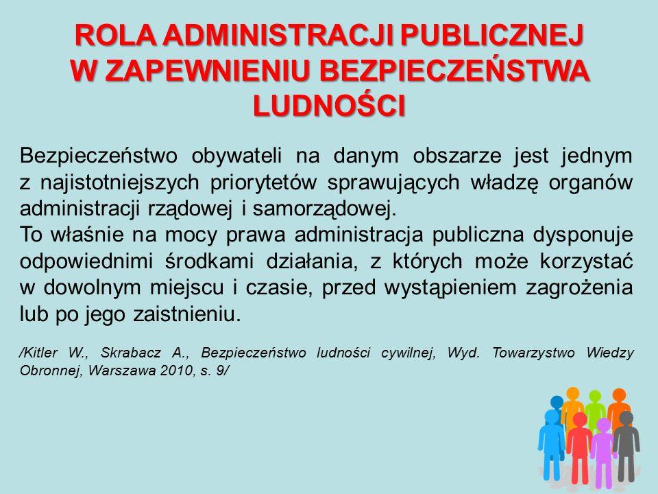 OGNIWA OCHRONY LUDNOŚCI W POLSCE Głównymi ogniwami (organami) ochrony ludności w Polsce na szczeblu centralnym są: 1) Rada Ministrów do zadań której należy m.in.: a) zapewnienie bezpieczeństwa wewnętrznego państwa oraz porządku publicznego, b) zapewnienie bezpieczeństwa zewnętrznego państwa; c) sprawowanie ogólnego kierownictwa w dziedzinie obronności kraju, 2) Poszczególni ministrowie, odpowiadający za sferę bezpieczeństwa pozostającego we właściwości kierowanego resortu.