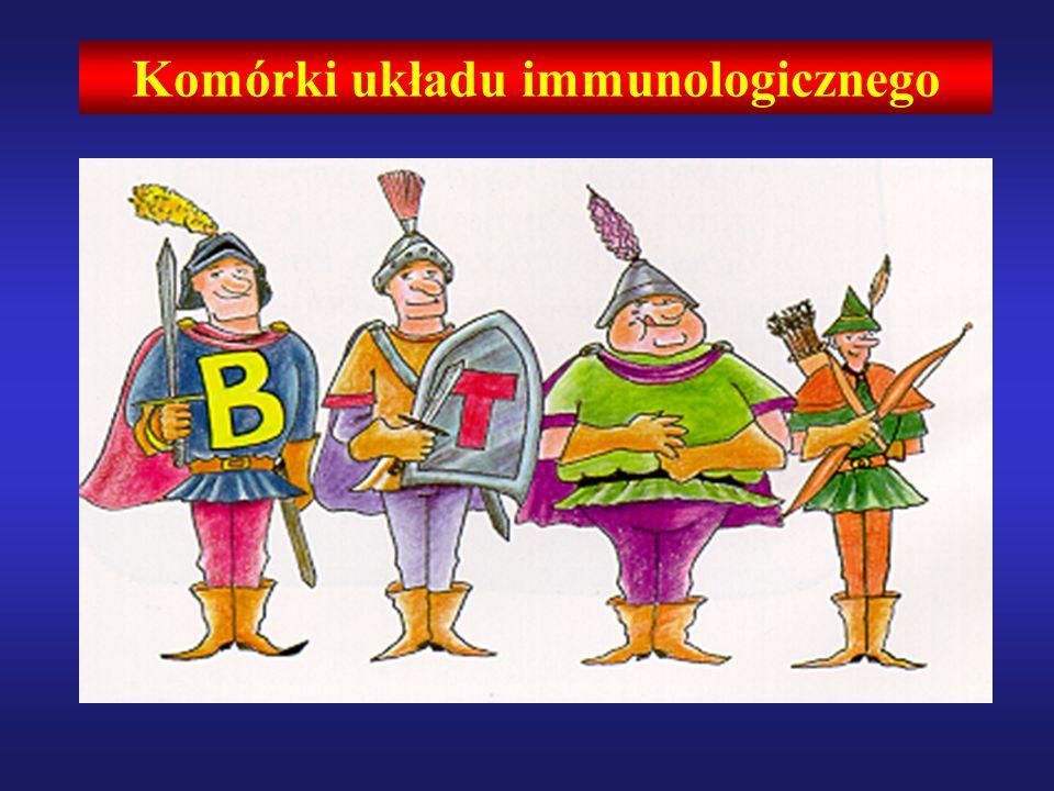 ODPORNOŚĆ NABYTA (Adaptive immunity) ODPORNOŚĆ WRODZONA (Innate immunity) ZALEŻNA OD ANTYGENU NIEZALEŻNA OD ANTYGENU KOMÓRKI T i B RECEPTORY ROZPOZNAJĄCE WZORZEC ANTYGENOWO SWOISTE RECEPTORY TOLL-LIKE RECEPTORS (TLR) KOLEKTYNY SP-A/DTCR i Ig/BCR