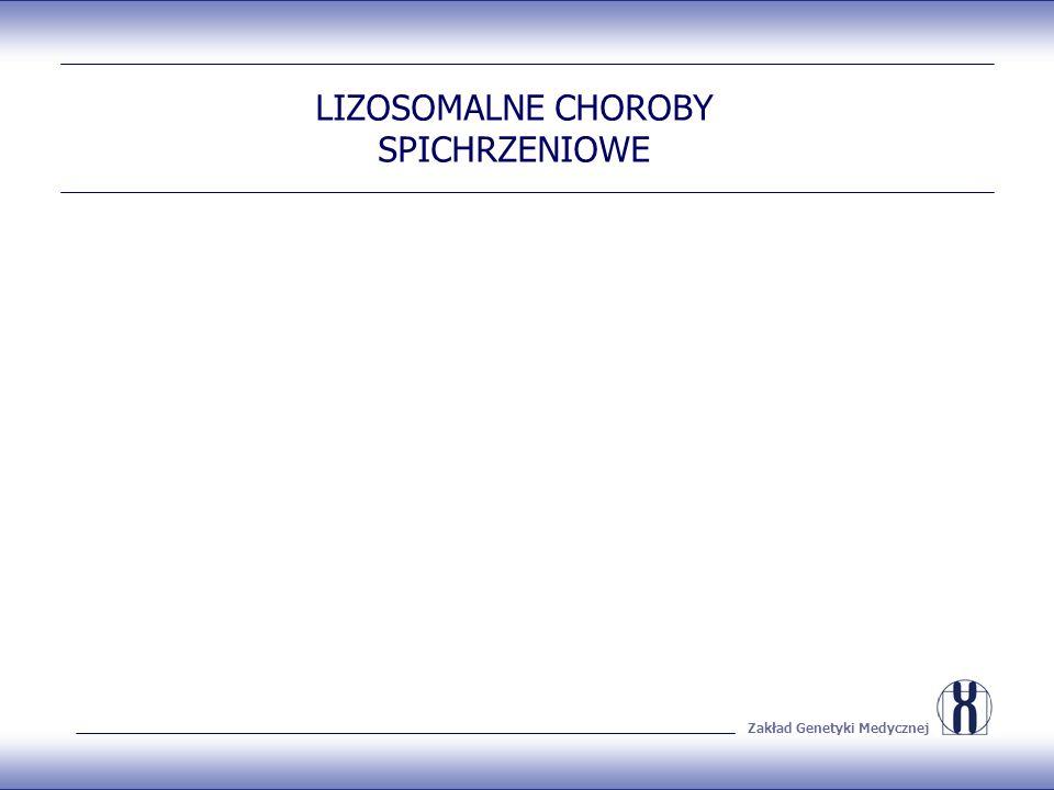 Zakład Genetyki Medycznej LIZOSOMALNE CHOROBY SPICHRZENIOWE