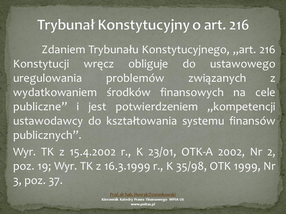 """Zdaniem Trybunału Konstytucyjnego, """"art."""