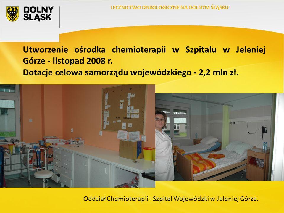 Utworzenie ośrodka chemioterapii w Szpitalu w Jeleniej Górze - listopad 2008 r.