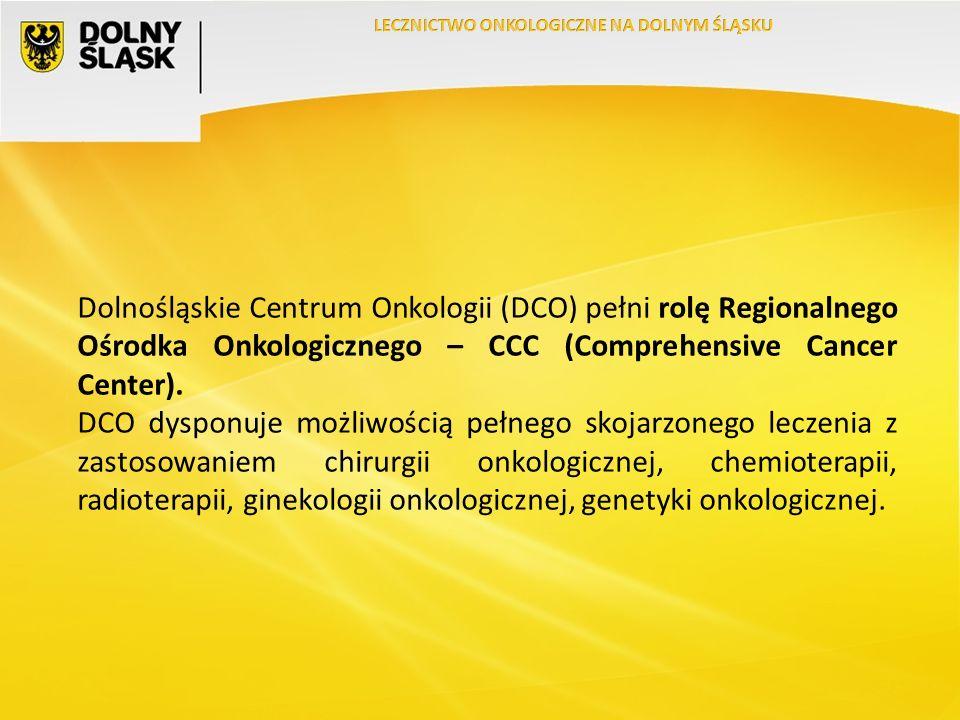 Dolnośląskie Centrum Onkologii (DCO) pełni rolę Regionalnego Ośrodka Onkologicznego – CCC (Comprehensive Cancer Center).
