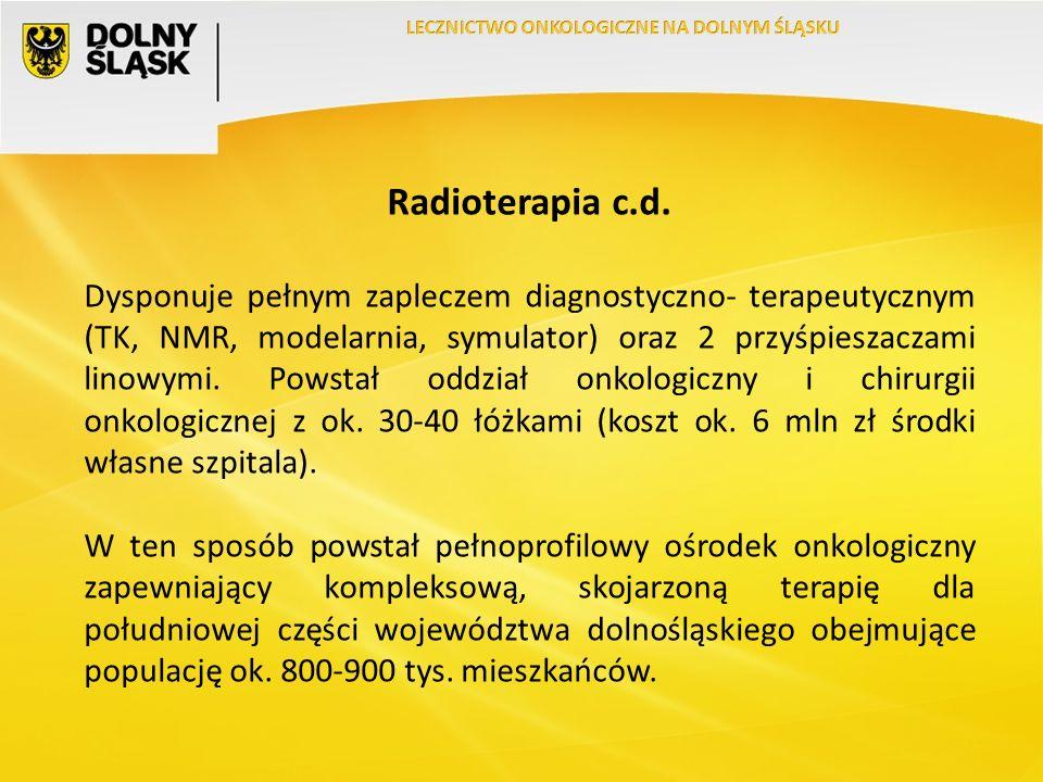 Radioterapia c.d.