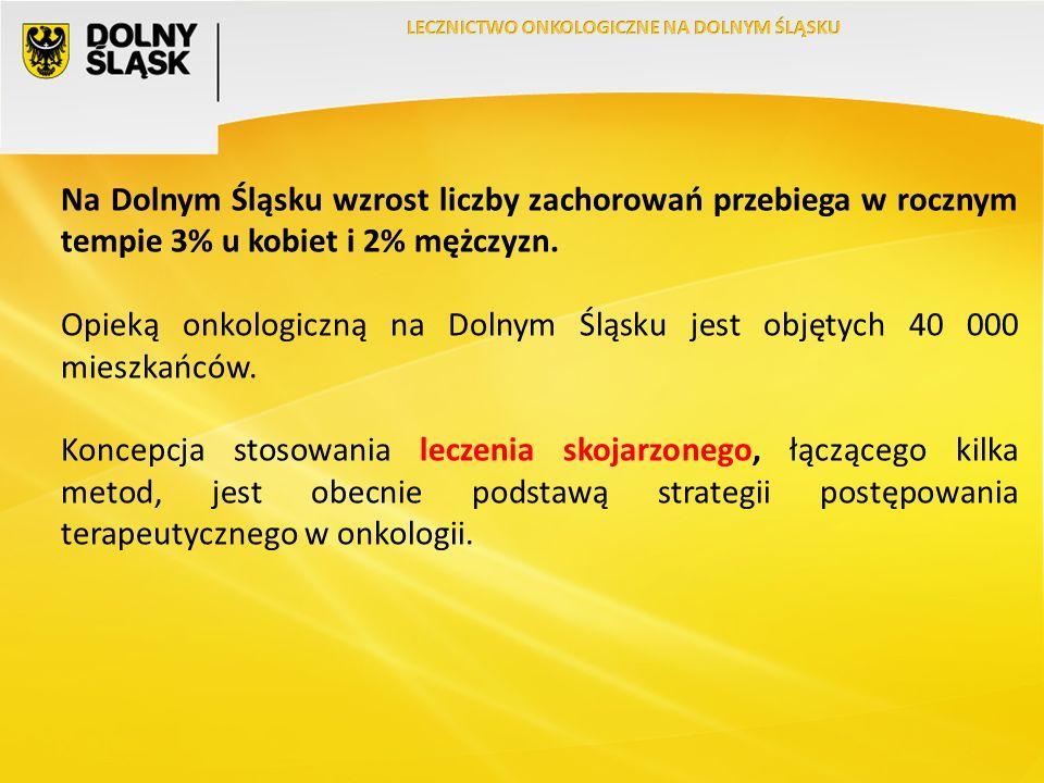 Na Dolnym Śląsku wzrost liczby zachorowań przebiega w rocznym tempie 3% u kobiet i 2% mężczyzn.