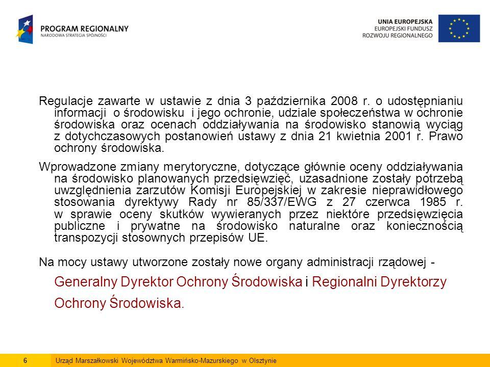 27Urząd Marszałkowski Województwa Warmińsko-Mazurskiego w Olsztynie OOŚ w ramach postępowania w sprawie wydania decyzji o środowiskowych uwarunkowaniach dla przedsięwzięć mogących potencjalnie znacząco oddziaływać na środowisko (grupa II) Inwestor składa wójtowi, burmistrzowi lub prezydentowi miasta wniosek o wydanie decyzji o środowiskowych uwarunkowaniach.