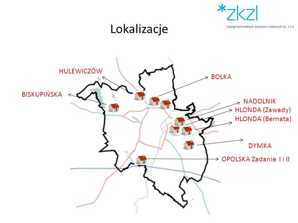 Lokalizacje BOLKA OPOLSKA Zadanie I i II NADOLNIK HLONDA (Zawady) HLONDA (Bernata) BISKUPIŃSKA HULEWICZÓW DYMKA