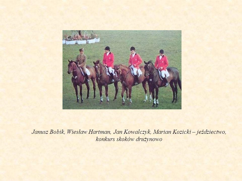 Janusz Bobik, Wiesław Hartman, Jan Kowalczyk, Marian Kozicki – jeździectwo, konkurs skoków drużynowo