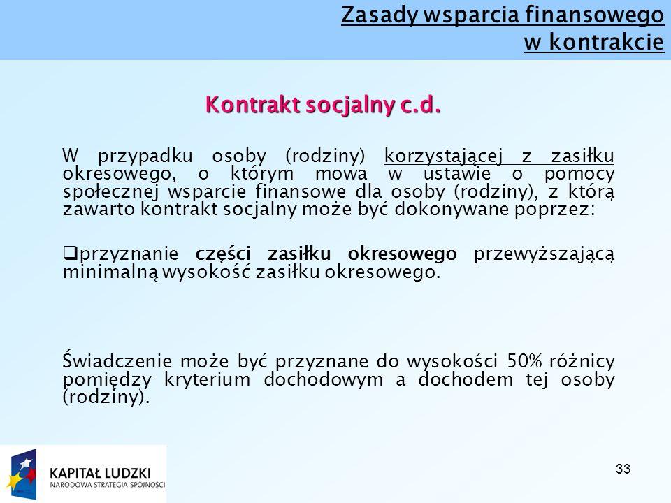 33 Kontrakt socjalny c.d. Kontrakt socjalny c.d.