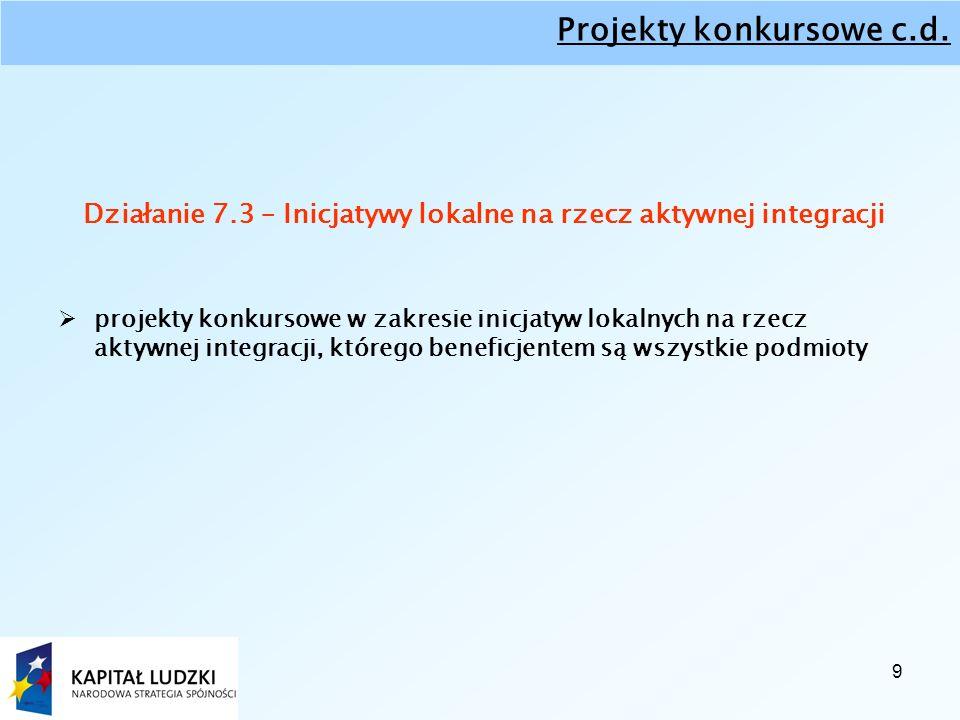 9 Projekty konkursowe c.d.