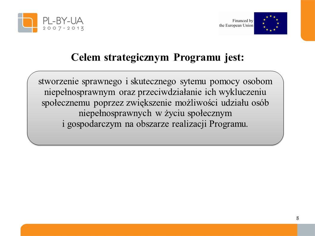 8. Celem strategicznym Programu jest: stworzenie sprawnego i skutecznego sytemu pomocy osobom niepełnosprawnym oraz przeciwdziałanie ich wykluczeniu s