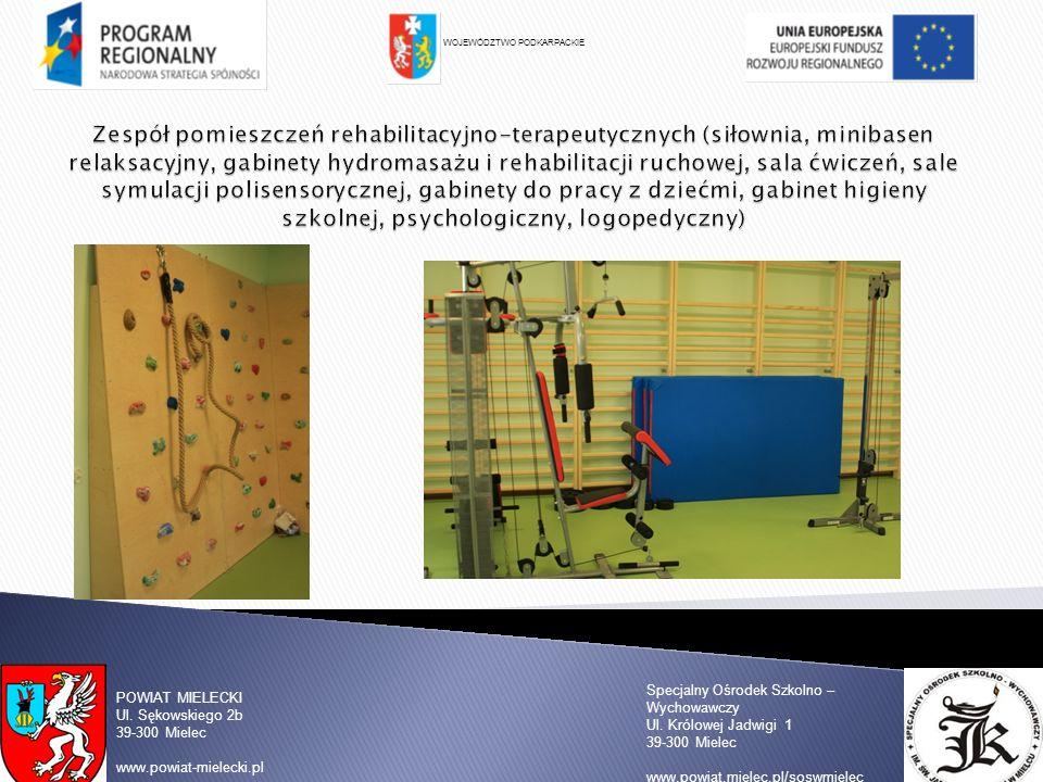 WOJEWÓDZTWO PODKARPACKIE Specjalny Ośrodek Szkolno – Wychowawczy Ul. Królowej Jadwigi 1 39-300 Mielec www.powiat.mielec.pl/soswmielec POWIAT MIELECKI