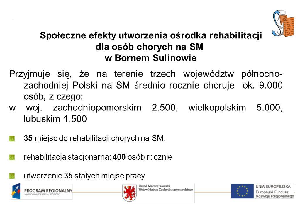 Społeczne efekty utworzenia ośrodka rehabilitacji dla osób chorych na SM w Bornem Sulinowie Przyjmuje się, że na terenie trzech województw północno- zachodniej Polski na SM średnio rocznie choruje ok.