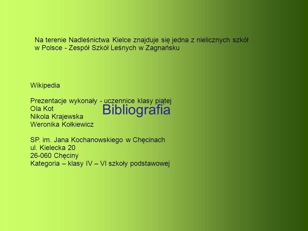 Bibliografia Wikipedia Prezentacje wykonały - uczennice klasy piątej Ola Kot Nikola Krajewska Weronika Kołkiewicz SP.