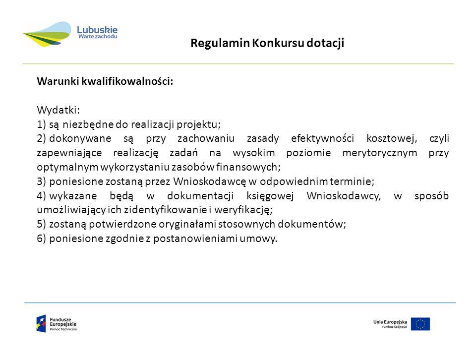 Instytucją odpowiedzialną za realizacje projektu w województwie lubuskim jest: Urząd Marszałkowski Województwa Lubuskiego w Zielonej Górze Departament Rozwoju Regionalnego i Współpracy Zagranicznej Wydział ds.