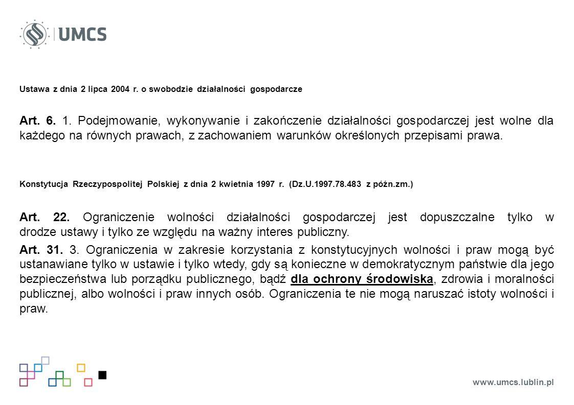 Ustawa z dnia 2 lipca 2004 r. o swobodzie działalności gospodarcze Art.