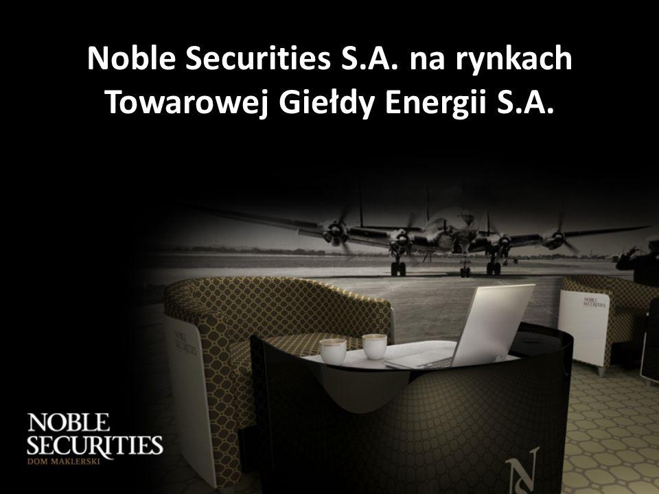 Noble Securities S.A. na rynkach Towarowej Giełdy Energii S.A.