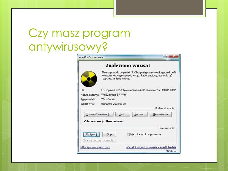 Wiele komputerów jest zainfekowanych wirusami komputerowymi