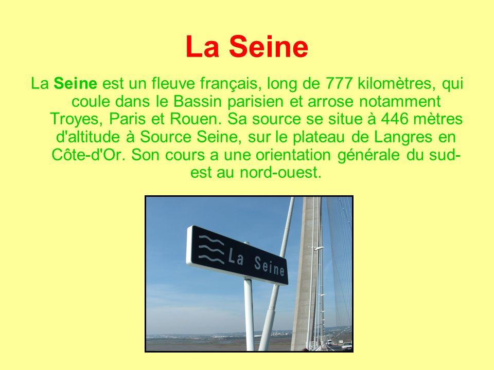 La Seine La Seine est un fleuve français, long de 777 kilomètres, qui coule dans le Bassin parisien et arrose notamment Troyes, Paris et Rouen.