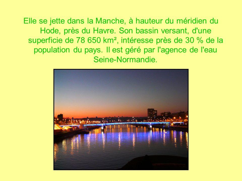 Elle se jette dans la Manche, à hauteur du méridien du Hode, près du Havre.