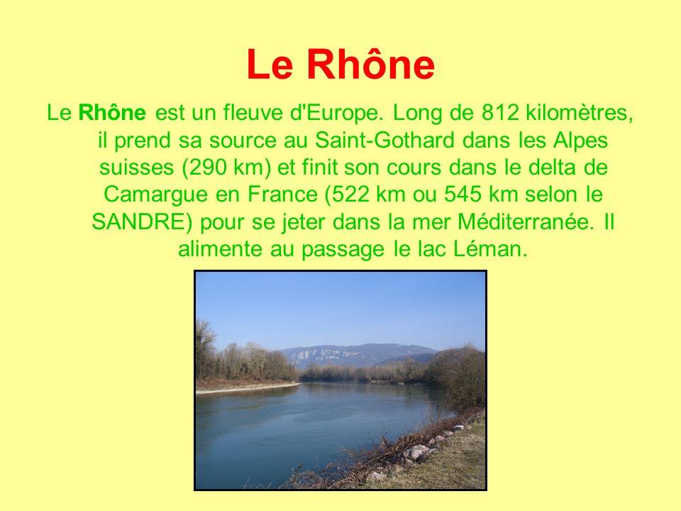 Le Rhône Le Rhône est un fleuve d Europe.