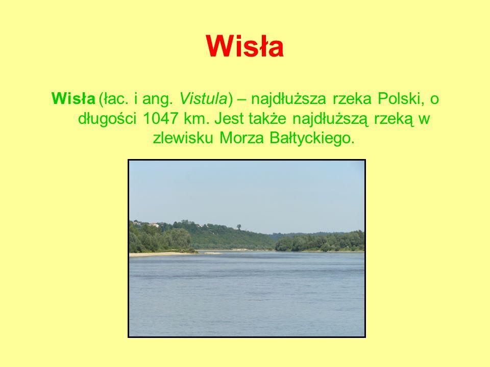 Wisła Wisła (łac.i ang. Vistula) – najdłuższa rzeka Polski, o długości 1047 km.