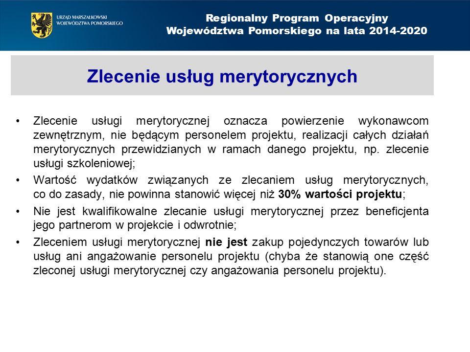 Zlecenie usług merytorycznych Zlecenie usługi merytorycznej oznacza powierzenie wykonawcom zewnętrznym, nie będącym personelem projektu, realizacji ca